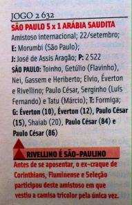 Ficha do jogo, do Almanaque do São Paulo