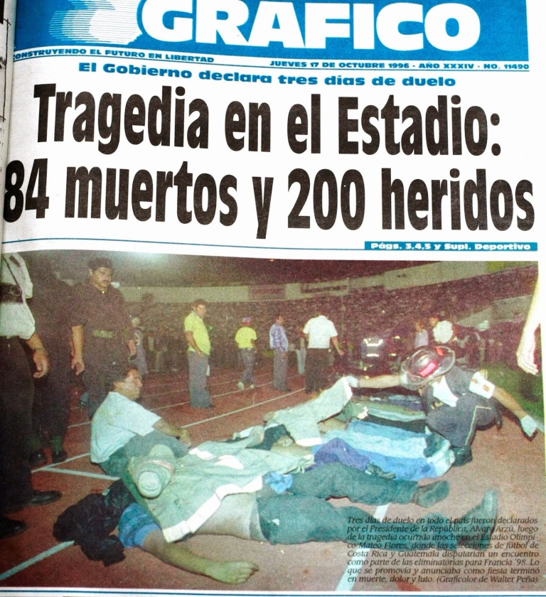 Superlotação mata 84 no estádio Mateo Flores, na Guatemala