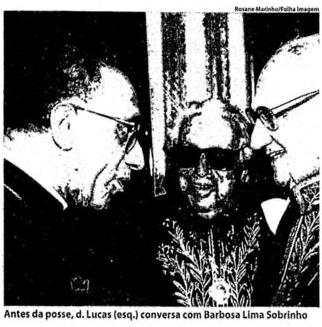 Dom Lucas Moreira Neves toma posse na ABL