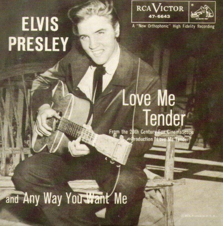 "Elvis Presley lança o compacto de ""Love Me Tender"""