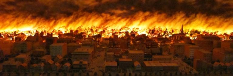 Começa o Grande Incêndio de Chicago