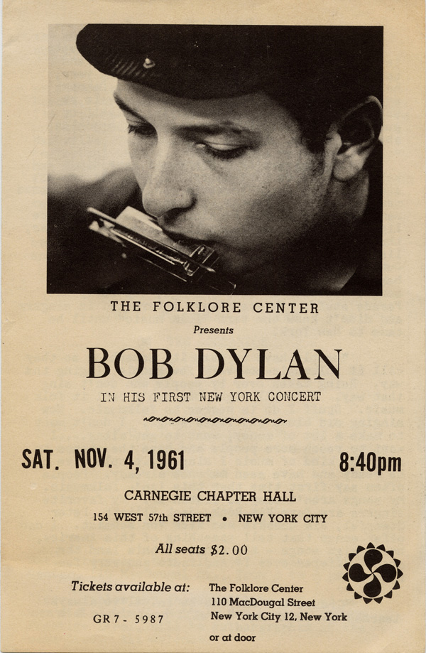 Bob Dylan, Carnegie Chapter Hall, Nova York