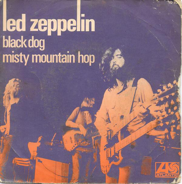 "Led Zeppelin lança o compacto de ""Black Dog"" nos EUA"