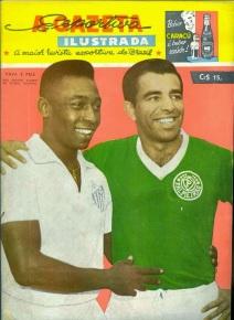 Pelé e Vavá, na capa da revista A Gazeta Esportiva Ilustrada