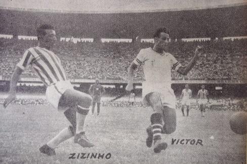 Com a camisa do Bangu, na final de 1951, vencida pelo Fluminense