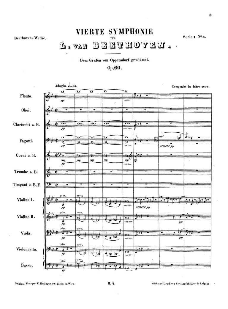 Beethoven apresenta Sinfonia nº 4 em Viena