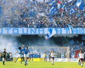 Maradona e Carnevale celebram o gol!